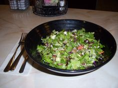Yours Truly Restaurants Chopped Salad with Homemade Dressing and Gorgonzola cheese