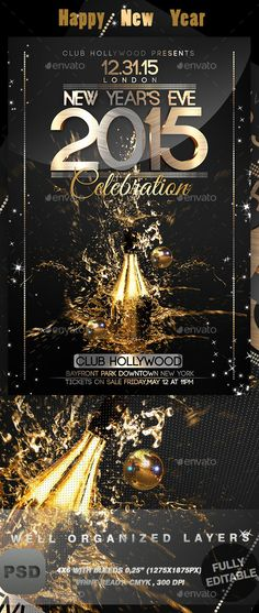 New Years 2018 Flyer Template Flyer template, Template and Event - new year brochure template