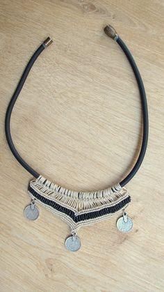 Handmade Macrame Necklace Crochet Boho Chic Handmade by WallKnot