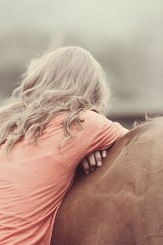 I do this all the time. Just lean on his withers and trust him while he's grazing. <3