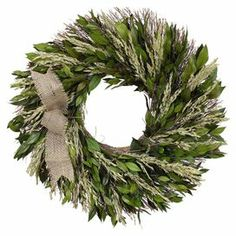 "Showcasing preserved myrtle and Sudan grass on a twig base, this charming wreath is a welcoming accent in the entryway or displayed above your mantel.  Product: WreathConstruction Material: Natural myrtle, Sudan grass, jute, and twigsColor: GreenDimensions: 16"" Diameter x 3"" D"
