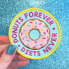 Donuts Forever iron-on Patch from the Candy Doll Club - #CandyDollClub #JadeBoylan