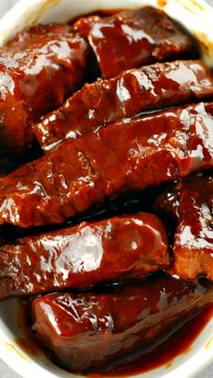 Slow Cooker Barbecue Ribs ~ an easy, family-friendly meal... fork-tender and full of flavor!