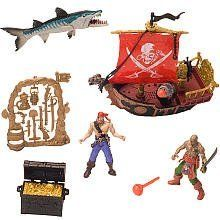 True Heroes Large Pirate Vehicle Set by Toys R Us. $27.07. There's a treasure out there and these True Heroes pirates are all ready to go exploring. Action figure set includes two pirate figures, pirate ship with cannon, an assortment of weapons, treasure chest and monster fish from the deep.Highlighting the real heroes of the past, present and future, True Heroes toy action figures, military action figure vehicles, play sets and realistic costumes have the same quality as col...