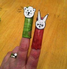 Vingerpoppetjes maken; budget knutsel tip van Speelgoedbank Amsterdam voor kinderen en ouders. Veel plezier met knutselen!