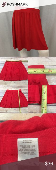 💜Sz Medium LOFT Lightweight Knee Length Red Skirt Measurements are in photos. Normal wash wear, has some minor piling, no other flaws. A4/44  I do not comment to my buyers after purchases, due to their privacy. If you would like any reassurance after your purchase that I did receive your order, please feel free to comment on the listing and I will promptly respond.   I ship everyday and I always package safely. Thank you for shopping my closet! LOFT Skirts Midi