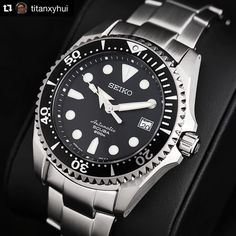 Glamour shot of the Seiko Shogun. By @titanxyhui. One of the higher end Divers by Seiko, this is a great one. Being titanium, this is extremely light on the wrist, while staying extremely durable. A...