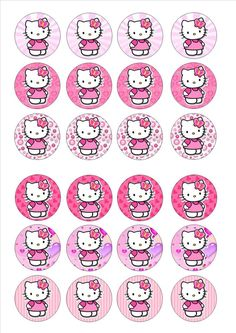 Free hello kitty valentines day cupcake toppers from for Hello kitty cupcake topper template