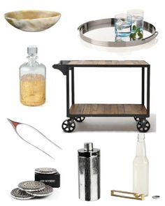 High & Low: Bar Cart Accessories