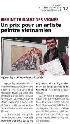Dans la presse | Journal La Marne du 27 avril 2016