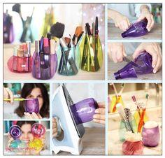 Minik pet şişelerden makyaj kutusu yapımı | Güzellik | Pek Marifetli!