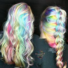 Unique dyed hair - 28 images - 1000 ideas about unicorn hair Hair Dye Colors, Cool Hair Color, Bright Hair Colors, Blue Hair, Pink Hair, Green Hair, Dye My Hair, Mermaid Hair, Mermaid Makeup