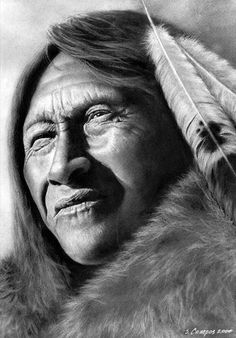 """Native American """"See's Forever"""" drawing. So realistic it looks like a photograph. 