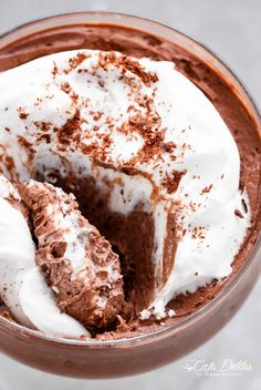 3-Ingredient Double Chocolate Mousse! Low Carb, dairy free, egg free and only 3 ingredients to thick and creamy healthier mousse!