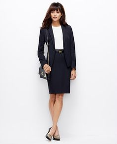 Ann Taylor All-Season Stretch Two Button Jacket