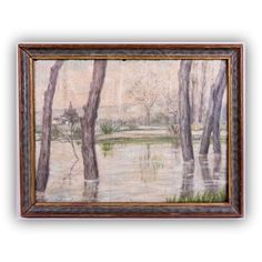 Antique Oil Painting European Landscape Painting Impresionist Style... ($325) ❤ liked on Polyvore featuring home, home decor, wall art, european landscape paintings, framed paintings, forest wall art, landscape wall art and oil painting