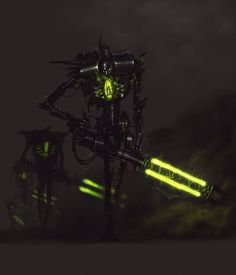 The Necrons are a race of mechanical warriors, created from the Necrontyr. They…