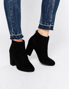 Head Over Heels | Head Over Heels By Dune Olive Back Zip Heeled Ankle Boots