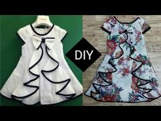 Beautiful top with flounce for kids cutting and stitching tutorial Baby Dress Patterns Beautiful cutting flounce Kids Stitching top Tutorial Baby Frock Pattern, Frock Patterns, Baby Girl Dress Patterns, Baby Clothes Patterns, Sewing Patterns, Baby Girl Frocks, Frocks For Girls, Little Girl Dresses, Girls Frock Design
