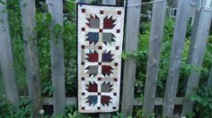 Bear's Paw Table runner Quilt plaids and by QuiltedbyChelle
