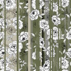 Stripe Floral by Daniela Duarte Seamless Repeat Royalty-Free Stock Pattern Floral Stripe, Stripe Print, Pattern Design, Free Pattern, Summer Prints, Trendy Colors, Textile Design, Repeat, Print Patterns