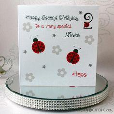 Luxurious Birthday Card - Ladybirds  #Birthday #Luxury #Ladybird #Handmade #Personalised #Swarovski Personalized Birthday Cards, Handmade Birthday Cards, Luxury Birthday Cards, Special Birthday, Chi Chi, Wedding Cards, Christmas Cards, Birthdays, Stationery