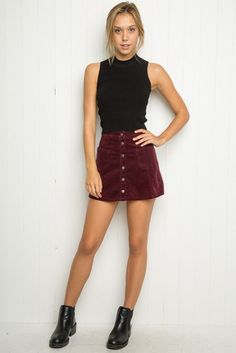 Brandy ♥ Melville | Sena Corduroy Skirt - Just In: