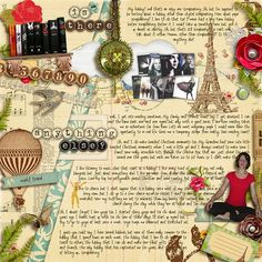 """""""Is There Anything Else?"""" by hollyinjapan at My Scrapbook Art. Wow!"""