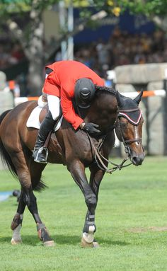 Eric Lamaze riding Hickstead.... RIP big guy, you were one of the best horses of the competing world