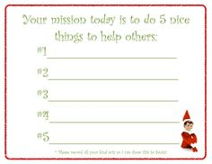 Elf note (FREE download via Excited2learn)