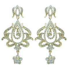 """Ever Faith 18K GP Flower Vase Drop Pierced Dangle Earring Clear Austrian Crystal Ever Faith. $24.95. Austrian Crystal (one of the best quality crystals in the world ). This pair of luxury and pretty dangle earrings which will enhance your feminine beauty and soon make you stand out in the crowds. It is good for your personal jewelry collection. 2.95"""" by 1.57"""""""