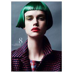 Working that green wig!  #ElleSweden #StinaRappWastenson #LisaLindqwister…