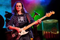 Geddy Lee of Rush performs in Tinley Park, Illinois.