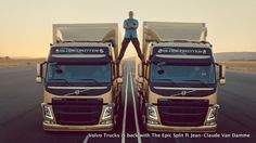 The Internet is buzzing about a new online commercial that shows actor Jean-Claude Van Damme appearing to perform a split between two moving Volvo FM trucks. Volvo says the stunt really happened. Volkswagen, Claude Van Damme, Audi, How To Do Splits, Detroit Auto Show, Viral Marketing, Guerrilla Marketing, Volvo Trucks, Chuck Norris
