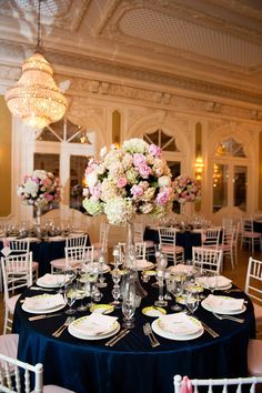 Navy and Pink Themed Wedding    http://www.seaisland.com #seaisland #eventdesign #decor #wedding
