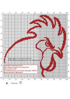 poule - poussin - coq - hen - chick - point de croix - cross stitch - Blog : http://broderiemimie44.canalblog.com/