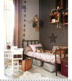 Living Room Vintage Decor grey and pink girls bedroom.Living Room Vintage Decor grey and pink girls bedroom Girls Bedroom, Teenage Girl Bedrooms, Bedroom Decor, Bedroom Ideas, Childrens Bedroom, Bedroom Wall, Bedroom Styles, Wall Decor, Bedroom Colors
