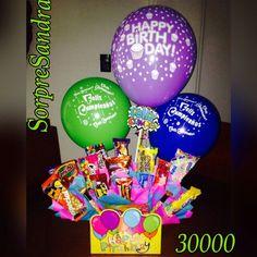 Dulces,globos,cumpleaños,detalles