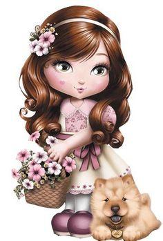View album on Yandex. Girl Cartoon, Cute Cartoon, Art Mignon, Image Digital, Bratz Doll, Pencil Art Drawings, Baby Art, Cute Dolls, Big Eyes