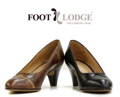 Foot Lodge Mid-heel Leather Court Shoe for Women. Code: 12-75