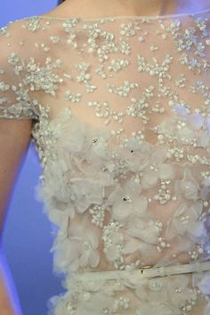 elie saab at couture 2014 Couture Embellishment, Couture Embroidery, Beaded Embroidery, Couture Details, Fashion Details, Fashion Design, Couture Collection, Couture Fashion, Gothic Fashion