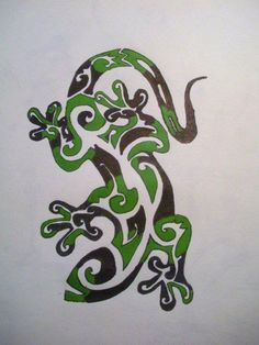A tribal to go with the cross I already have and another Gecko