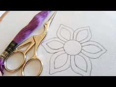 Fancy Flower Design using Cut Work for Dress (Hand Embroidery Work) Basic Embroidery Stitches, Cutwork Embroidery, Hand Embroidery Designs, Hand Designs, Flower Designs, Brazilian Embroidery, Cut Work, Needlework, Stitching