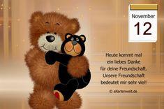 November 12th, Teddy Bear, Night, Good Morning Coffee Gif, Day Of Year Calendar, Birthday, Teddy Bears