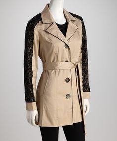 Black Lace Sleeved Jacket