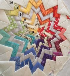 Somerset Star Tutorial 7...okay, obviously i don't have the patience to make a whole quilt of this, but one square, made into a pillow, might be pretty sweet.