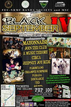 "« ""BLACK SEPTEMBER IV"" » FEU-NRMF MEDICINE BANDA SOCIETY - Sept.18 at Merci Bar QC »"