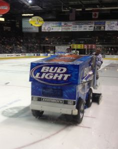 The Bud Light zamboni, which runs on Bud Light, because we can't think of another use for Bud Light.