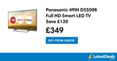 Panasonic 49IN DS500B Full HD Smart LED TV Save £120, £349 at Argos