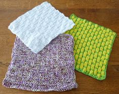 je m'éclate avec mes 10 doigts: Et si j'utilisais des lavettes ? Crochet Top, Knitting, Vogue, Accessories, Patch, Hui, Table, Amigurumi, Knit Dishcloth Patterns